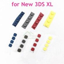 8 pçs/set para novo 3ds xl console, frontal, parafuso traseiro, cobertura de pés de borracha, parafusos, tela lcd, tampa de substituição de borracha