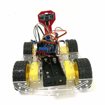 Control Tracking Obstacle Avoidance 4WD Arduino Robot Car Chassis Kit with UNO R3 Board+Motor Drive Shield Board Diy Wheeled