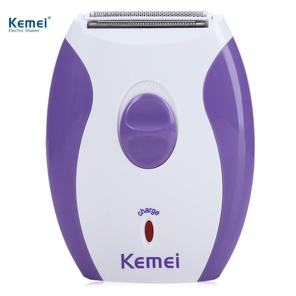 Kemei Recargable Mujeres Depiladora Afeitadora Eléctrica de Afeitar Lana  Máquina de Afeitar Depilación Depilador para Cara y Cue. 6d4b4733f42f