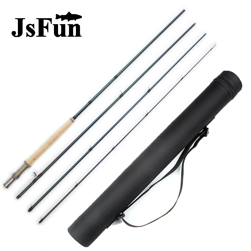 9FT/2.76M Fly Fishing Rod Fast Action 36T Carbon Fiber Fishing Rod 4 Sections IM10 6WT Fly Rod with Tube Super Light FG164 high quality 2 43m fly fishing 4 sections portable 66cm ultralight carbon fishing rod medium fast action fly rod tenkara fr166