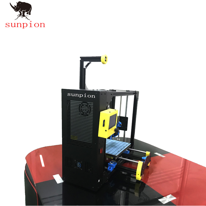 SUNPION TECHNOLOGY S1-300 Dual Extruder Desktop 3D Printer, Fully Metal Frame Structure, Acrylic Covers, with 2 Free Filaments