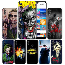Batman Joker Dark Knight Black Silicone Case Cover for Huawei Honor 8X 8C 8A 8S 10 10i Lite Play V20 Y9 Y7 Y6 Y5 Prime 2018 2019(China)