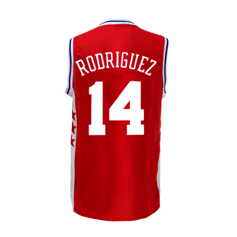 785bedfad ... Rev30 Swingman Throwback Blue Jersey new Mens 14 Sergio Rodriguez  Basketball jersey R.. Adidas Philadelphia 76ers Authentic ...