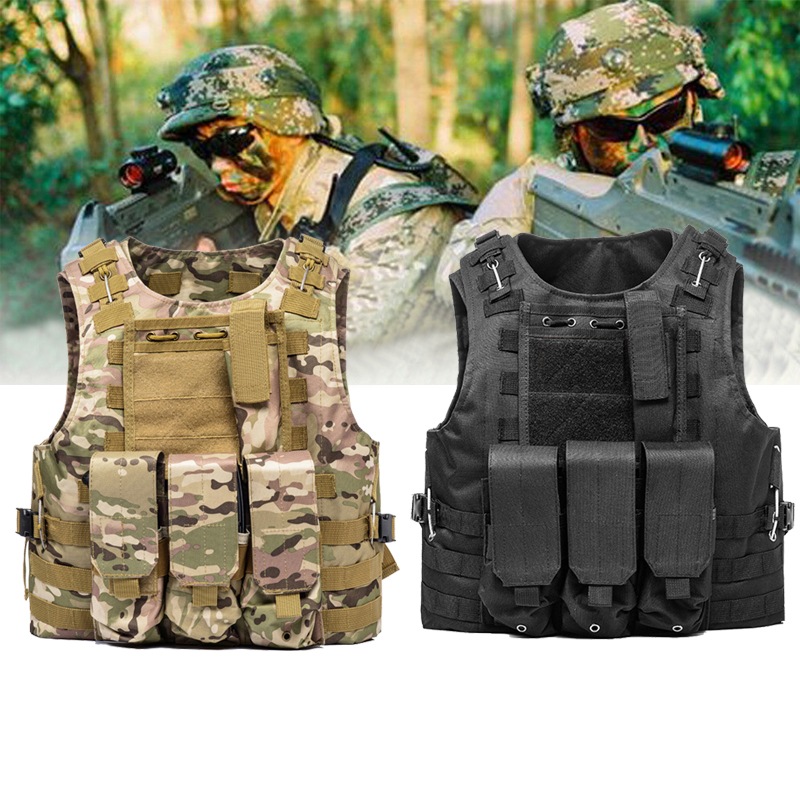 Military Tactical Camouflage style Vest SWAT Police Combat Assault Plate Carrier CS Paintball security Clothing Hunting