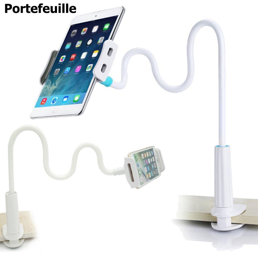 Portefeuille cisne para IPad soporte Tablets montaje largo brazo soporte para iPhone 7 8 más IPad pro 10.5 soporte accesorios