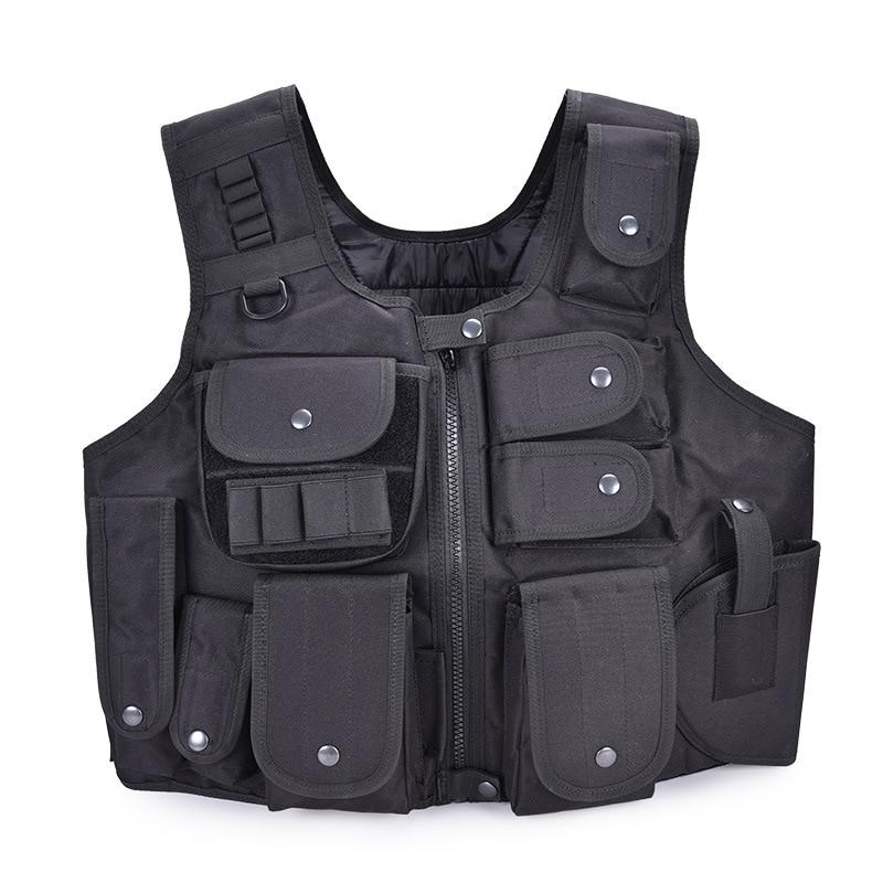 Tactical SWAT Police Plate Carrier Combat Vest Military Security Guard Vest Black