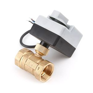 Image 3 - AC220V DN15 DN20 DN25 2 Way 3 Wires Brass Motorized Ball Valve Electric Actuato With Manual Switch Free Ship