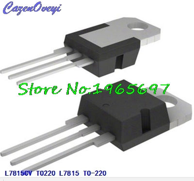 10pcs/lot L7815CV L7815 LM7815 MC7815 7815 TO-220 New Original In Stock