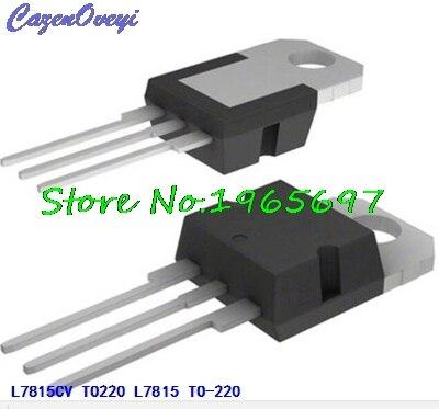 10pcs/lot L7815CV L7815 LM7815 MC7815 7815 TO-220 New Original In Stock