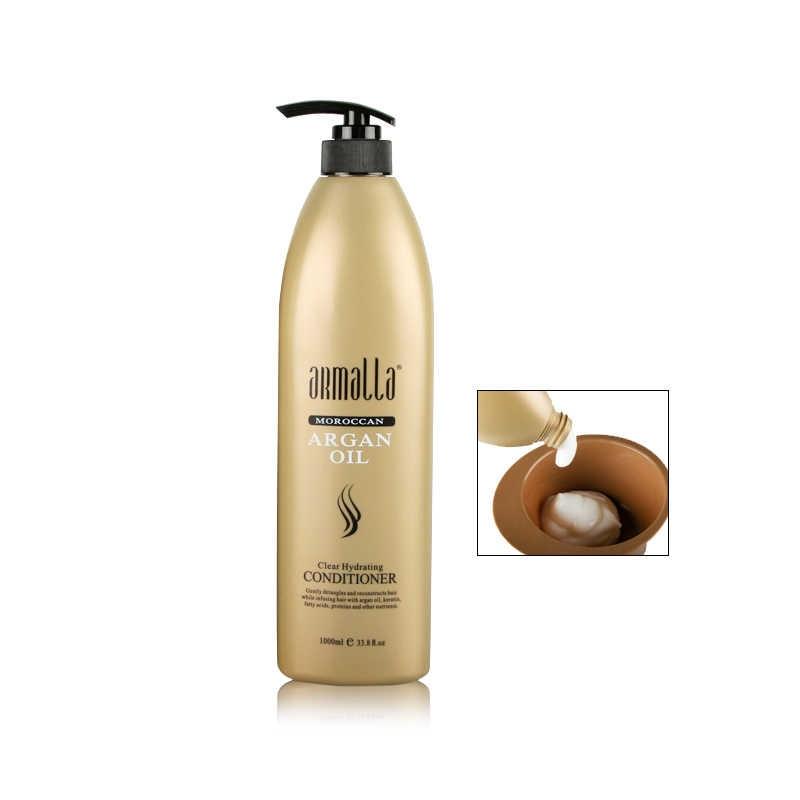 En Çok Satan Armalla 1000 ml Fas Profesyonel Doğal Kuru Şampuan ve 1000 ml Derin Saç Kremi + 100 ml argan Yağı