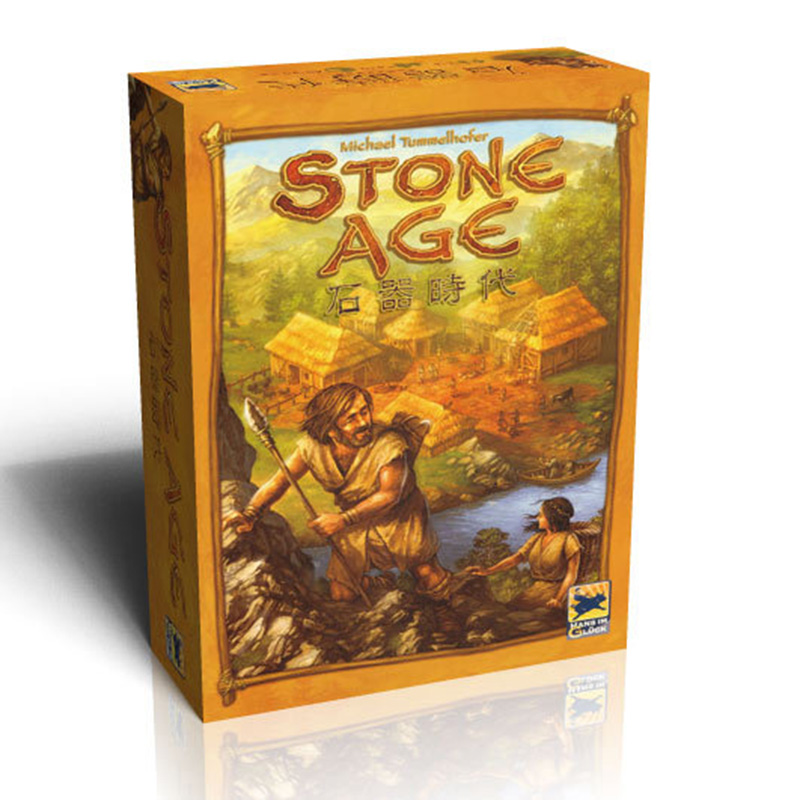 Stone Age Super Classical Germany Board Game Table Games Cards Chinese Version Send English Instructions Easy