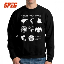Men Game Of Thrones Choose Your House Hoodie Funny Sweatshirts Cotton Geek Pullover