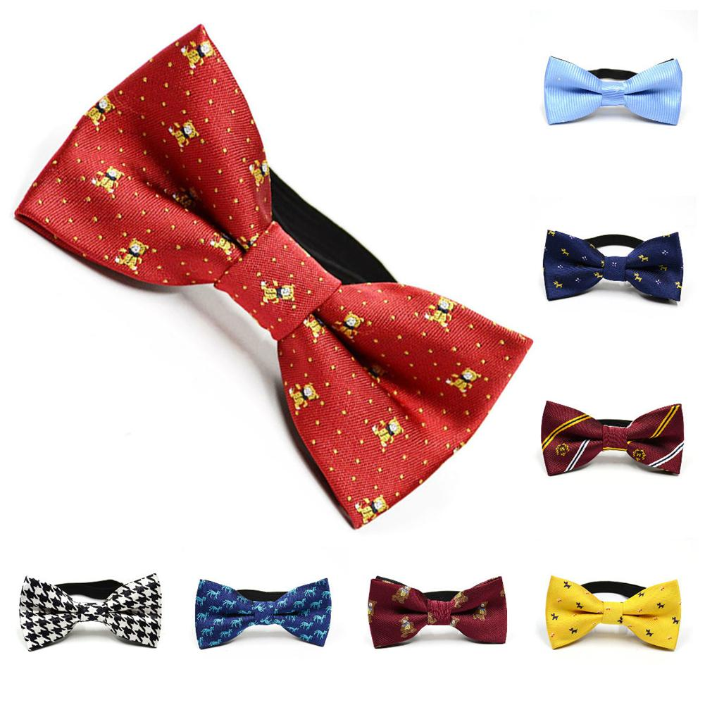 Children Bow Tie Polyester Baby Kid Bow Ties Multi-color Clothing Accessories Solid Color Gentleman Shirt Neck Tie Pattern Pet