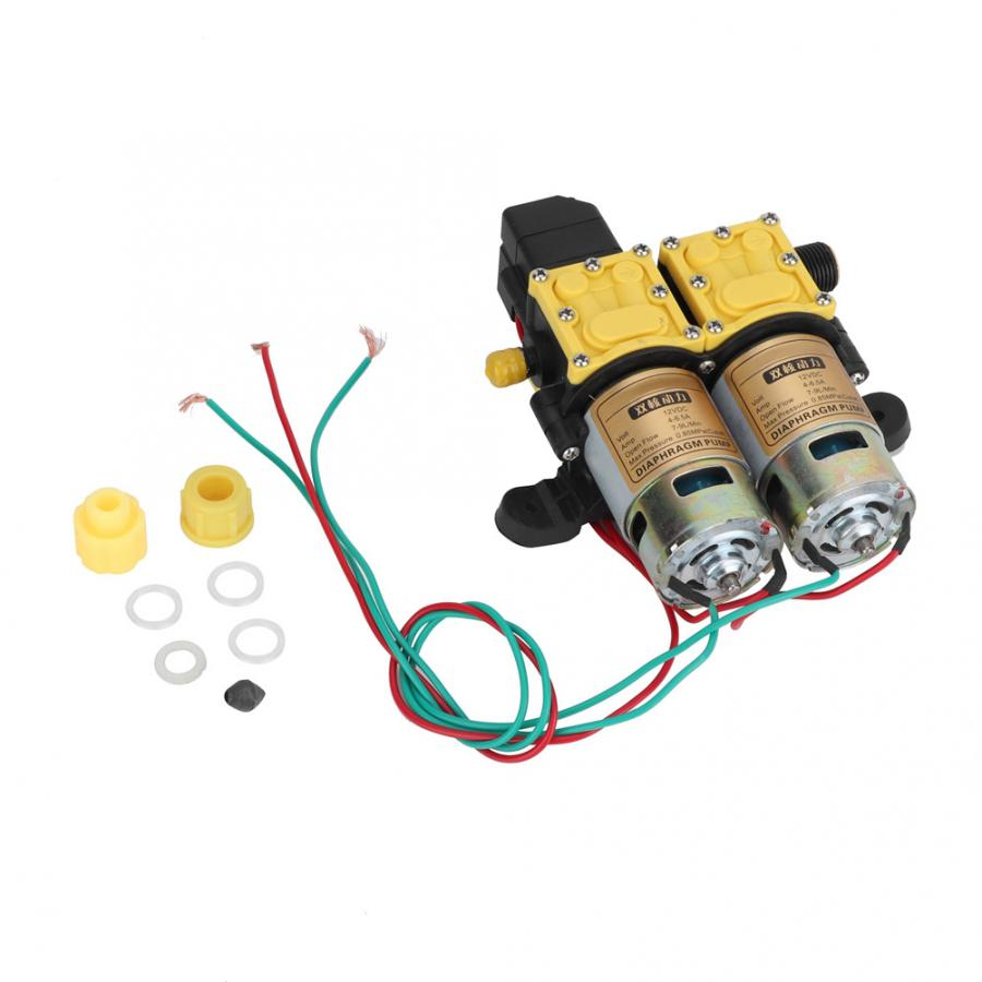 bomba agua 12V Double Head High Pressure Agricultural Sprayer Water Pump bomba