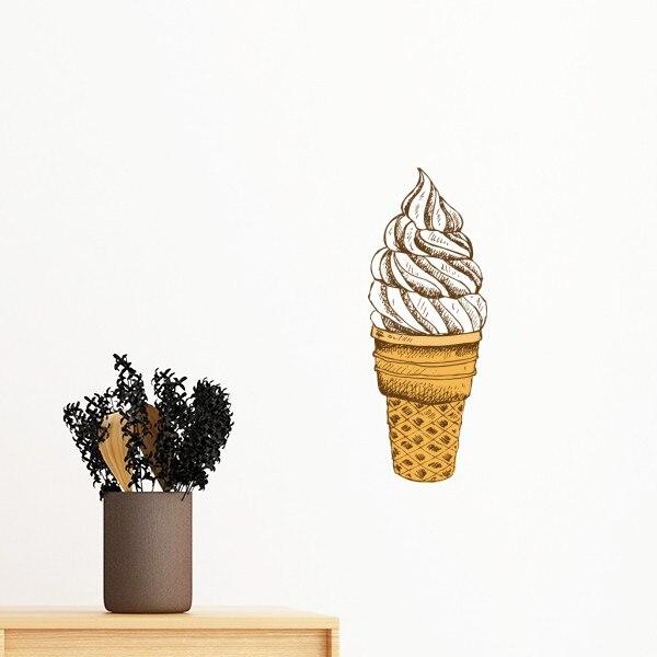 Ice Cream Cone Wallpaper: Icecream Cone Chocolate Vanilla Dessert Sweet Removable