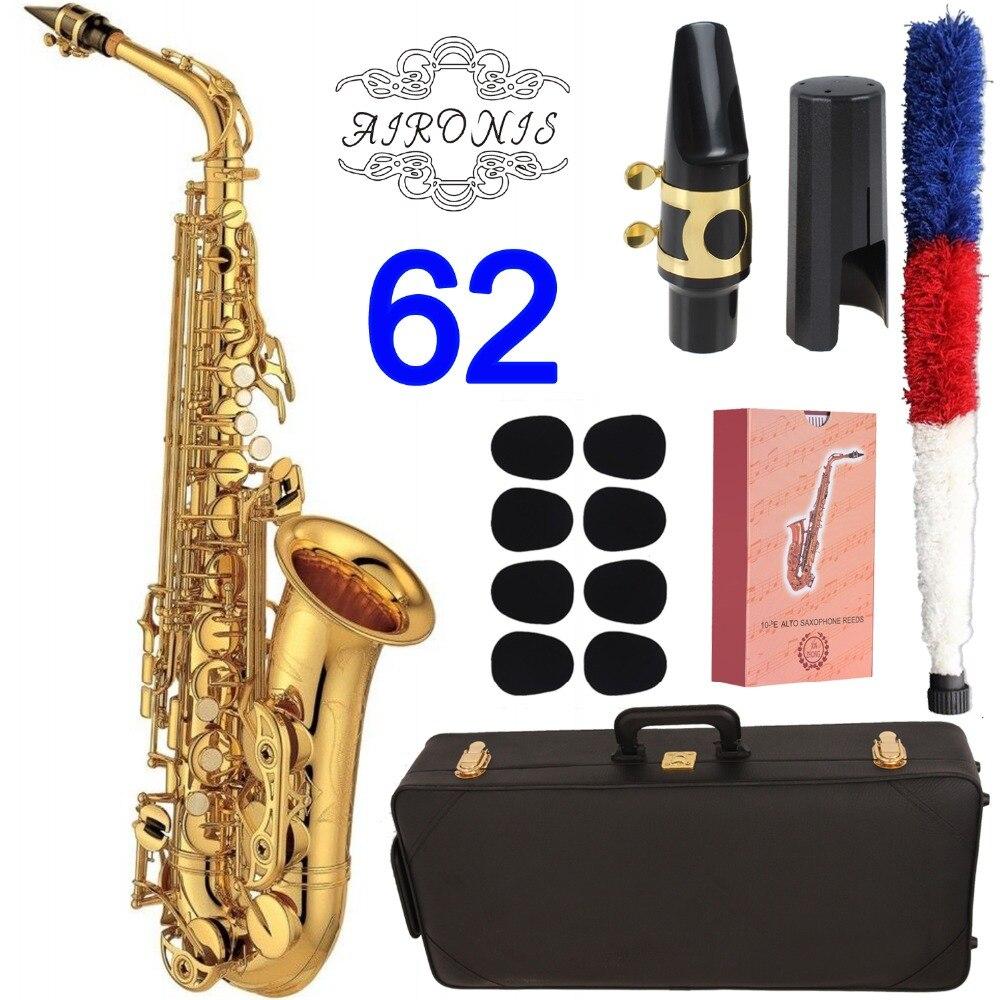 Brand New Saxofone alto 62 Série Ouro laca Alto Saxophone Sax alto Profissional Personalizado Com Bocal Palhetas Caso Pescoço