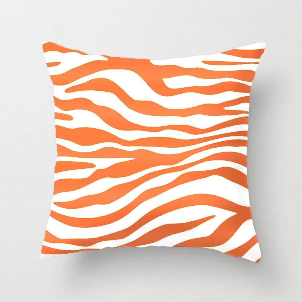 amber orange zebra animal print throw pillow case decorative cushion cover pillowcase customize gift by lvsure for car sofa seat