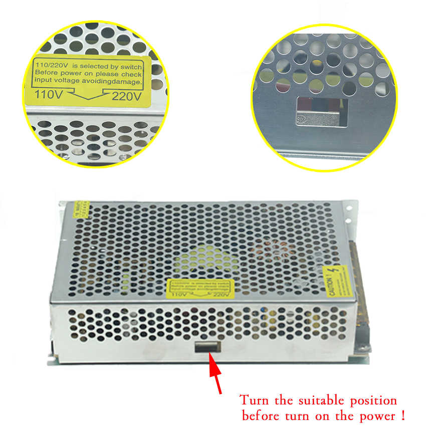 Питание блок светодиодное освещение трансформаторов водителя AC 110 V 220 V до 12 V 5 V 24 V 36 V 3 V 1A 2A 5A 6A 10A 15A 20A 25A 30A полосы света