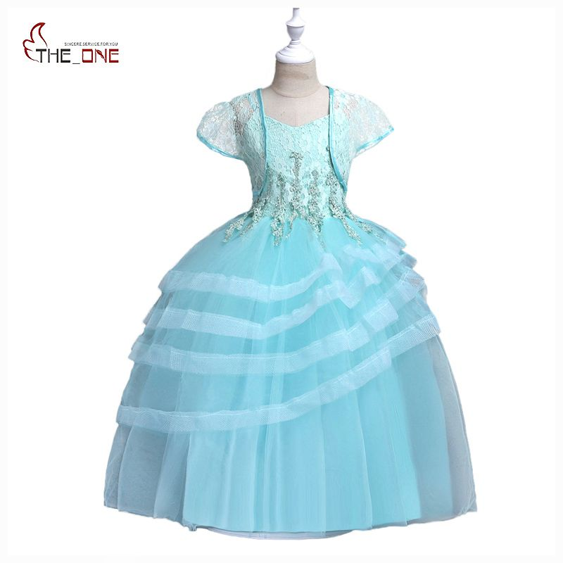 MUABABY Big Girls Princess Party Dress Kids Girls Sundress with Cape Flower Layered Wedding Bridesmaid Pageant Fashion Dresses long flower girl cape winter princess junior bridesmaid cape wedding cloak with fur trim with hand warmer for communion dress