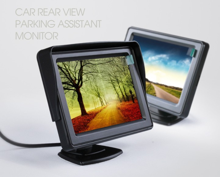 Free Shipping 4 3inch TFT Color Parking Monitor Car rearview font b camera b font DVD