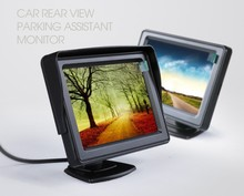 Free Shipping 4.3inch TFT Color Parking Monitor Car rearview camera DVD GPS Video reversing display