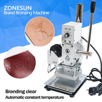 ZONESUN 1PC 110V 220V Manual Hot Foil Stamping Marking Machine Leather PVC Printer With Temperature Control