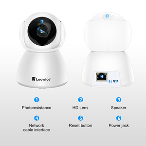 Image 5 - 3MP full HD home Security Wifi Camera H.265 Two Way Audio CCTV Camera Baby minitor Indoor Phone Remote Control IP Camera