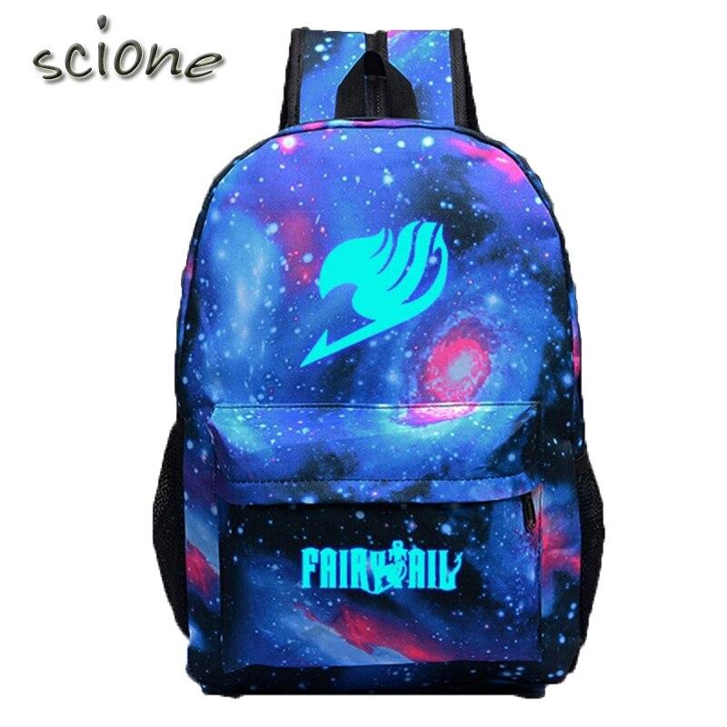 High Quality Fairy Tail Backpack Cartoon Travel Bag Japan Anime Printing School Bag for Teenagers Nylon