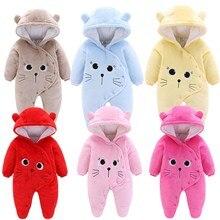 Orangemom/Официальный магазин; Одежда для новорожденных; флисовый Детский комбинезон; мягкая одежда для маленьких девочек; зимние пальто для малышей; белое теплое пальто