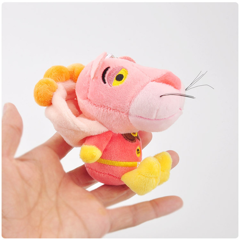 Anpanman Baikinman Pink Panther Plush Toys Keychain Sitting Superman Pink Leopard Panther Soft Animals Stuffed Dolls Key Bag Pendants10pcslot 10cm (1)