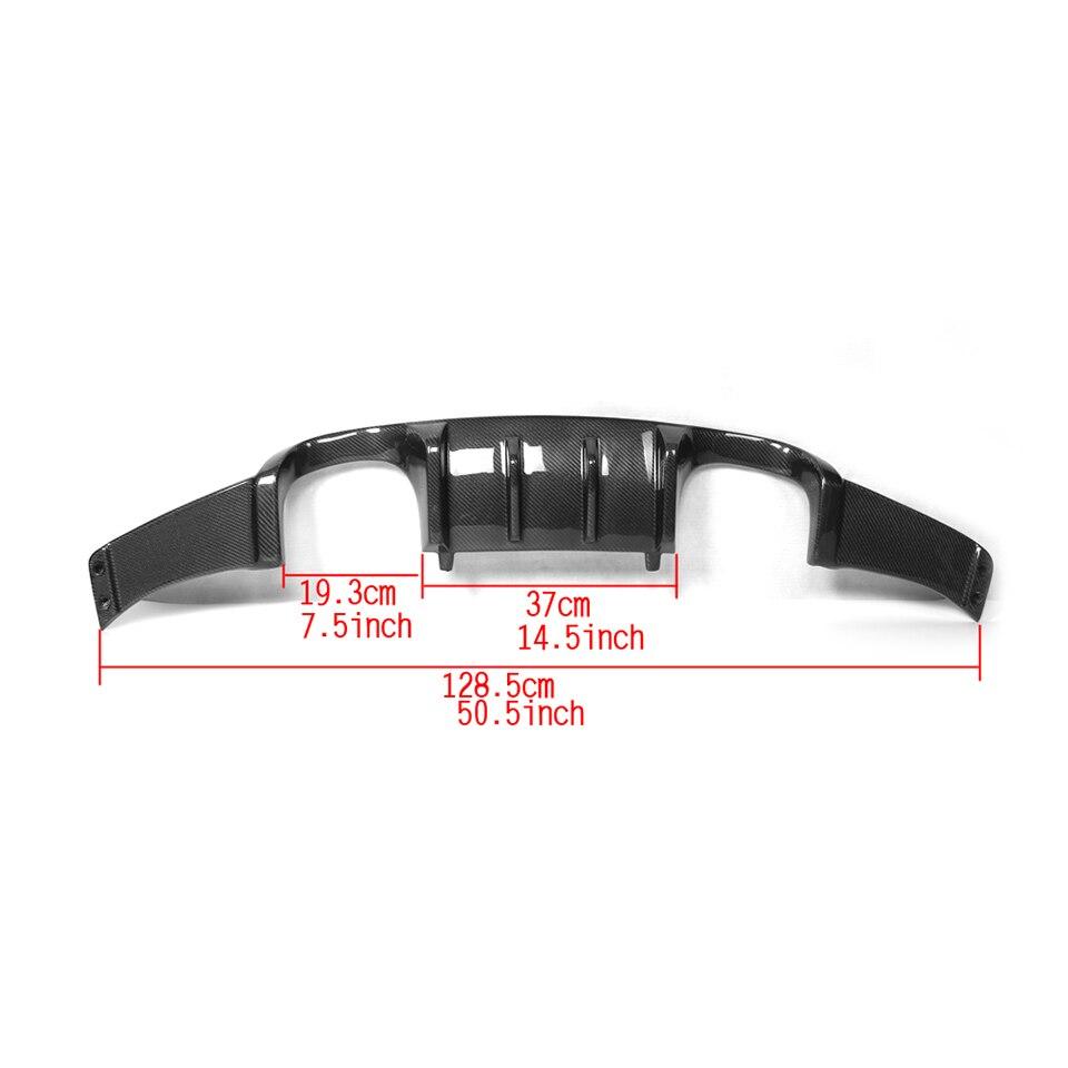 Углеродное волокно/FRP черный авто задний бампер Защита для губ Диффузор спойлер для BMW E92 M3 2008-2013 добавить стиль