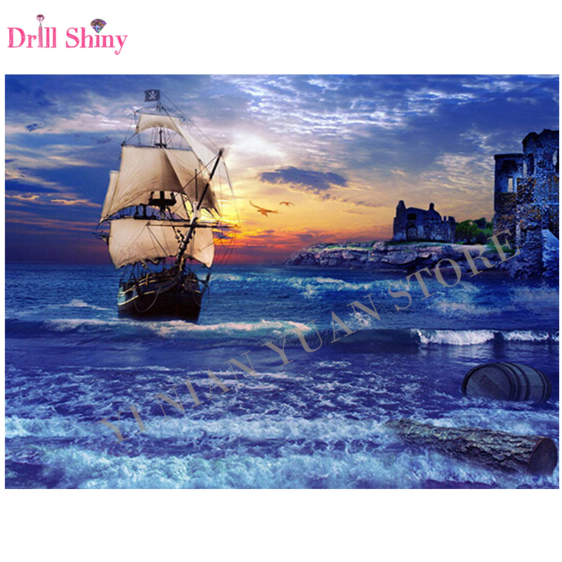 5d Diy Embroidery Handicrafts Sailboat Ship Diamond Painting Cross
