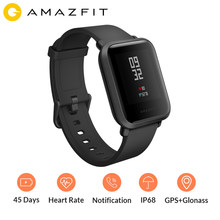 Amazfit Bip Smart Watch Sports Watch GPS Compass Heart Rate Mi Fit IP68 Waterproof Call reminder Glonass English Russian(China)