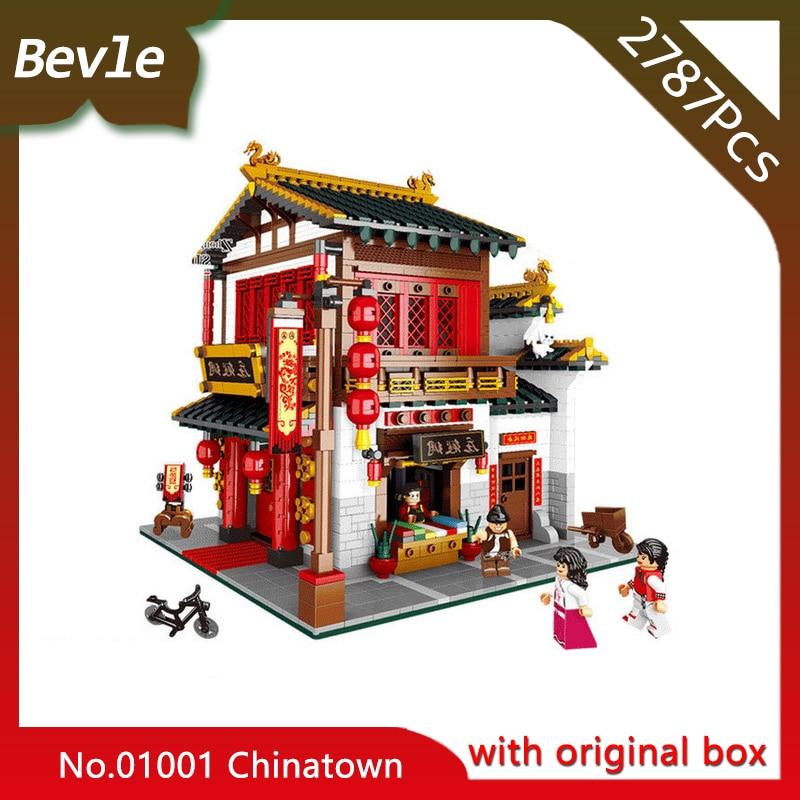 Bevle Store Bevle XINGBAO 01001 2787Pcs with original box Street View series Chinatown silk warehouse Building Blocks туфли ecco 358103 01001 2015 358103 01001
