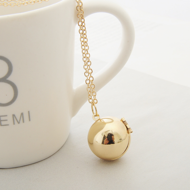Hot Fashion Custom Handmade Secret Message Ball Locket Necklace Suspensions Friendship Best Friend Women Men Holiday Girl Gifts in Pendant Necklaces from Jewelry Accessories