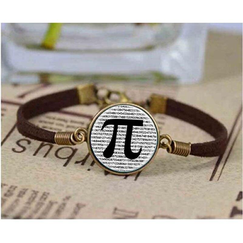 glass dome jewelry PI bracelet Math Jewelry, Black and White Art bracelets