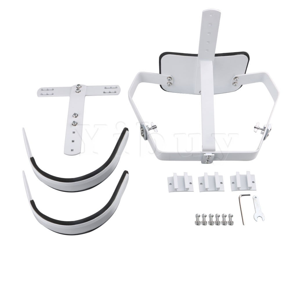 yibuy white steel marching snare drum carrier holder with shoulder harness for 10 12. Black Bedroom Furniture Sets. Home Design Ideas