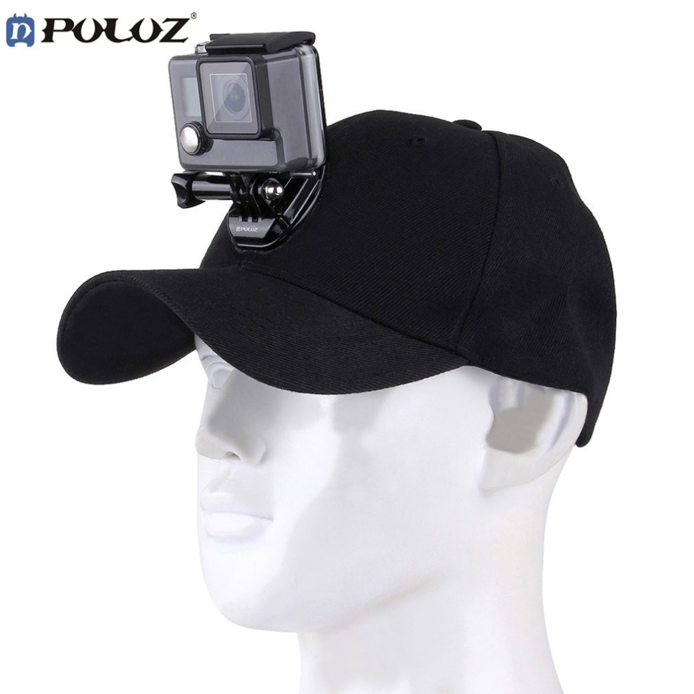PULUZ Sports Camera Hat For Gopro Accessories Adjustable Cap With Screws And J Stent Base For GoPro HERO 6 5...
