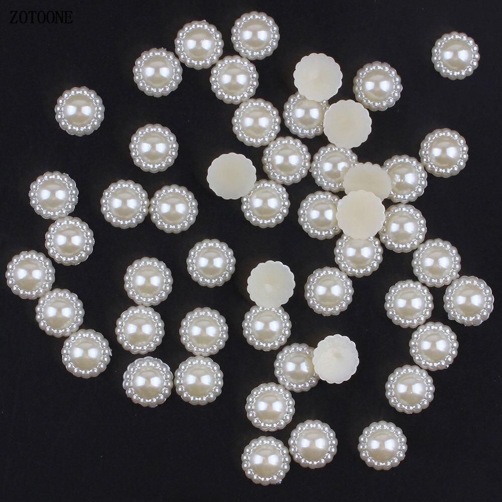 ZOTOONE 50 шт. 9-20 мм белый цветок стразами кристалл приклеиваемые на плоской основе шитье стразами и ткани брошь в форме горного хрусталя декоративный камень для ногтей E