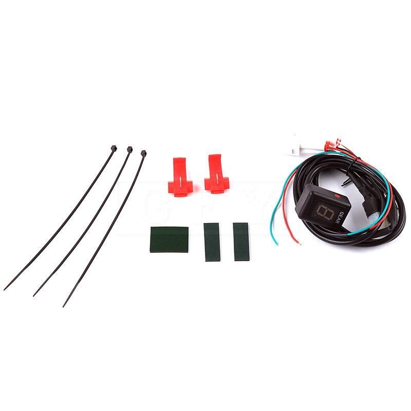 Moto LCD Électronique 6 Vitesse 1-6 Niveau Indicateur de Vitesse Numérique de vitesse Indicateur Pour Yamaha FZ1 FZ6 FZ8 FAZER FJR1300 FJR 1300