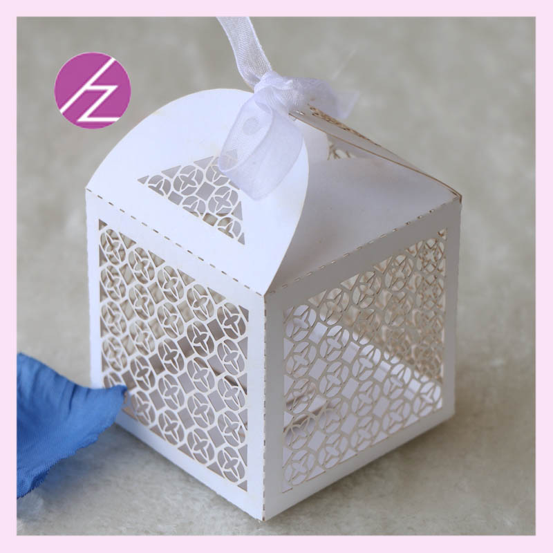 50pcs Lot Free Shipping Sweet Cake Box For Wedding Laser Cut Paper Candy Bird Cage Chinese Manufacture And Wholesaler TH 114 In Gift Bags Wrapping