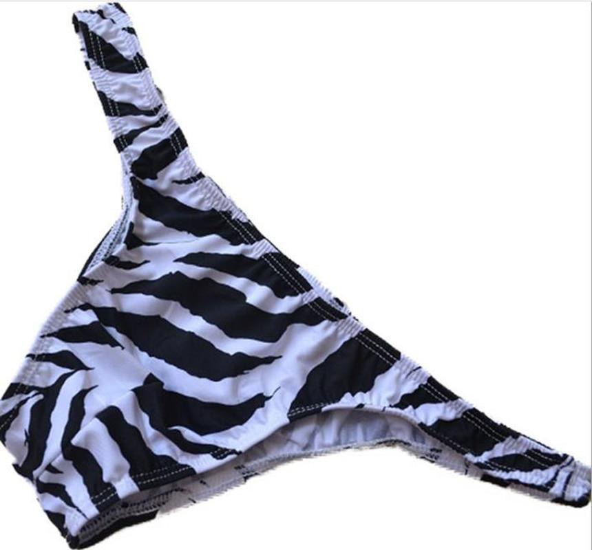 Märke Sexiga män Trosor Bikini manlig sebraänder underkläder liten kort