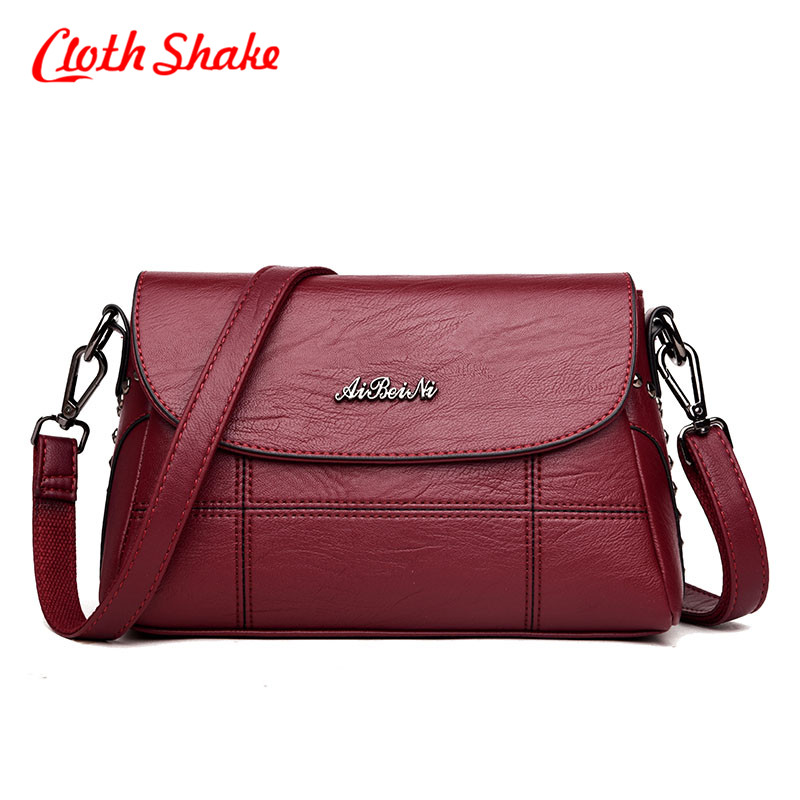 Women Handbag PU Leather Plaid Messenger Bags Sac a Main Shoulder Bags Women Crossbody Bag Ladies Designer High Quality Handbags