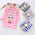 New 2017 Summer Autumn Girl Dress Casual Stripe Hello Kitty Pattern Vestidos Girls Clothes christmas Vetement Fille Kids Dresses