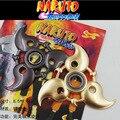 Rolamento de metal Naruto shuriken rotativo, dardos de rotação do rolamento, cos adereços, Anime arma modelo brinquedos, faca de brinquedo