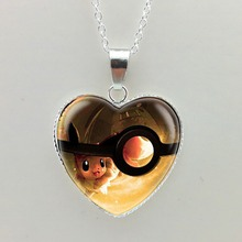 New Pokemon Eevee Heart Shaped Necklace