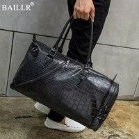 2017 New Travel Bags Men and Women Fashion light Weight Large Capacity Handbag Alligator Pattern pu Leather HandBags with belt
