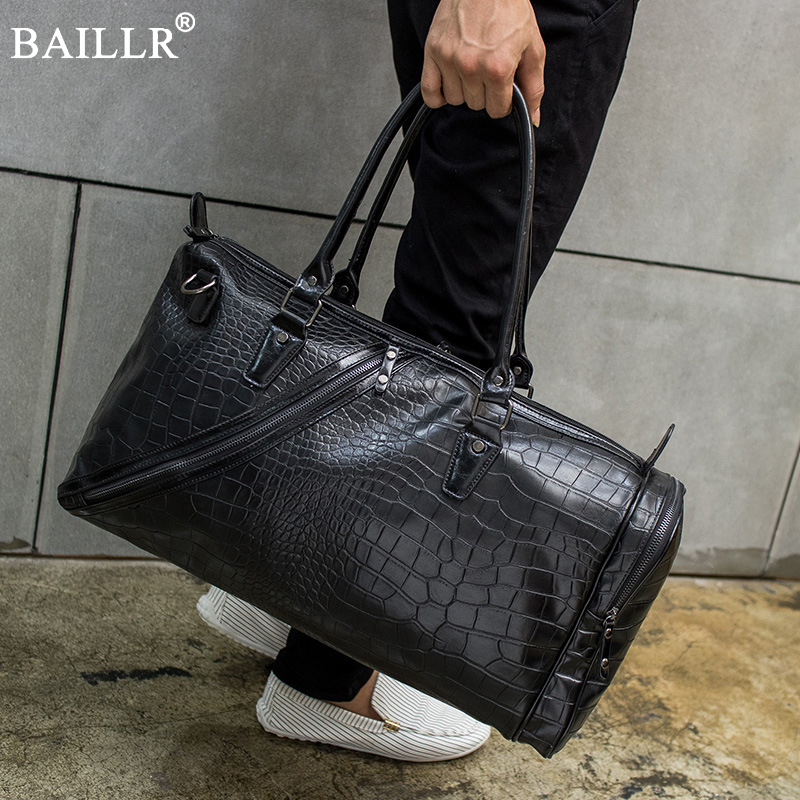 2018 New Travel Bags Men and Women Fashion light Weight Large Capacity Handbag Alligator Pattern pu Leather HandBags with belt fashion rabbit and grass pattern 10cm width wacky tie for men