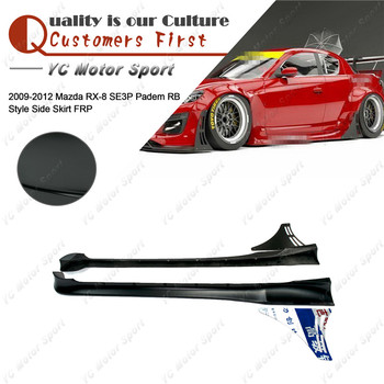 Car Accessories FRP Fiber Glass PD Style Side Skirt Fit For 2009-2012 RX8 SE3P RB Side Skirt with Canard Kit