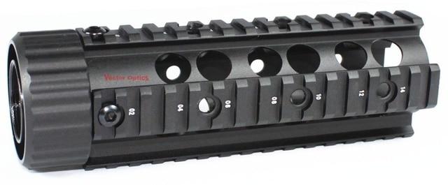 Vector Optics .223 rem 5.56 Free Float RAS Handguard Carbine Length Quad Pictinny Rail System Mount Free 12x Covers & Shipping